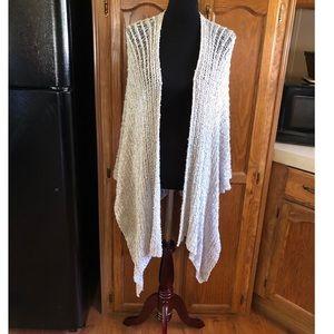 Chico's Open Weave Blanket Jacket Shawl